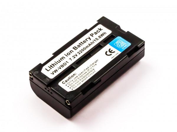 Akku für HITACHI VM-BPL27, BN-V812, AG-BP15P, CGR-B/403, VW-B202, VW-VBD2E, VM-BPL13J