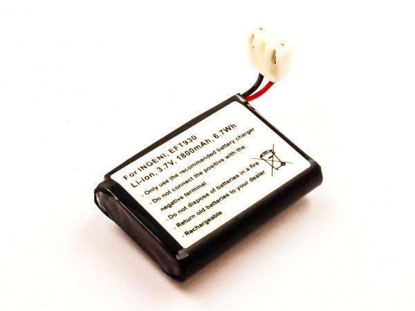 Akku für INGENICO EFT930 ersetzt 252117847, F26401652