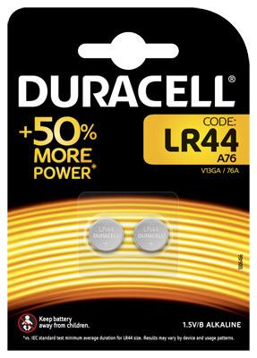 Duracell Alkaline-Knopfzelle LR44 Alkaline 1,5V / 105mAh