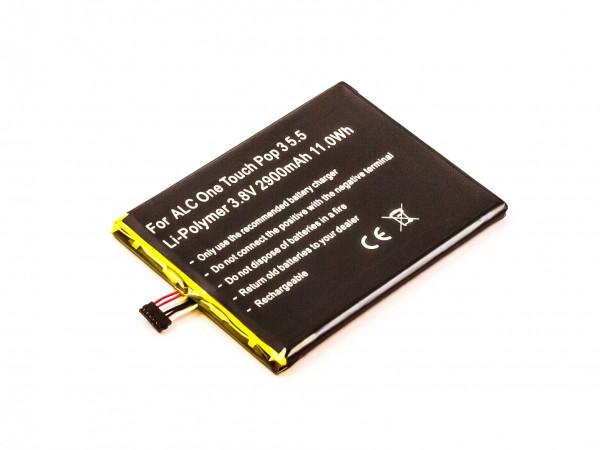 Akku für ALCATEL ONE TOUCH POP 3 5.5, OT-5025, OT-5025D ersetzt CAC2910008C1, TLP029A1