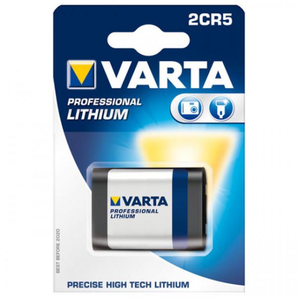 Varta Photobatterie 2CR5 Lithium 6V / 1600mAh 1er Blister