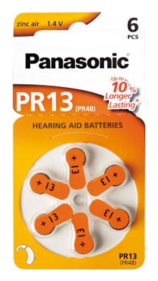 PANASONIC Hörgerätebatterie PR-13/6LB