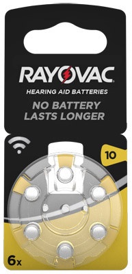 RAYOVAC Hörgerätebatterie HA10 Hearing Aid, Acoustic