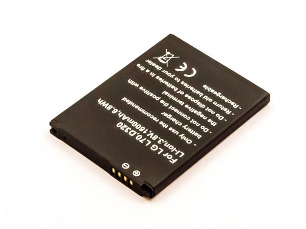 Akku für LG SPIRIT 4G, MS323, L70, L65, D329, D325, D320, D285, D280 ersetzt BL-52UH