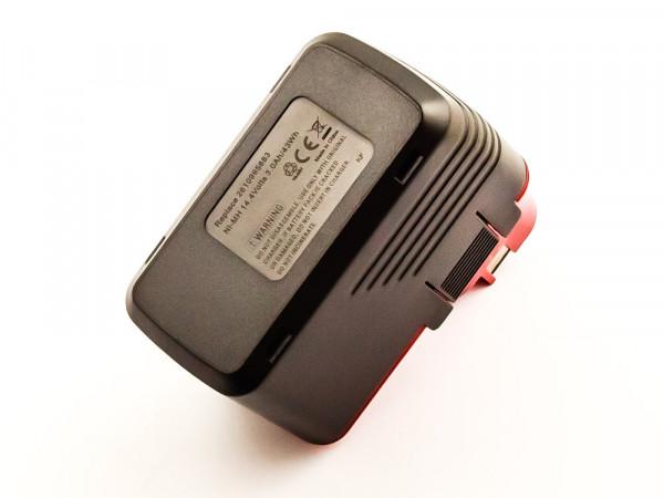 Akku für BOSCH GSB 14,4V, PSR 14,4V VES-2, NiMH, 14,4V, 3000mAh, 43,2Wh, black