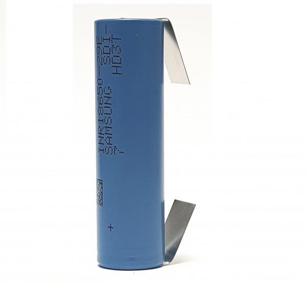 Akku Samsung INR18650-29E E7 3,7V 3C Li-Ion 18650 Lötfahne U FORM