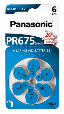 PANASONIC Hörgerätebatterie HA675 Hearing Aid, Acoustic