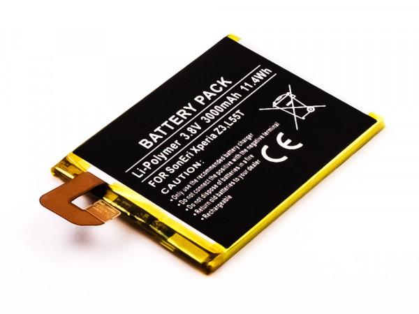 Akku für SONY ERICSSON XPERIA Z3 LTE, Z3 DUAL, Z3, L55U, L55T ersetzt LIS1558ERPC