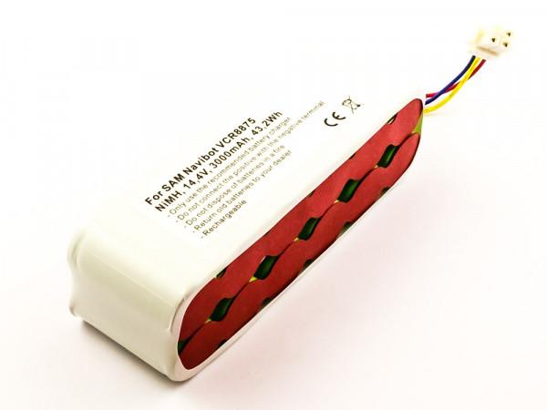 Akku für SAMSUNG NAVIBOT ersetzt AP5579205, DJ96-00136B, AP5576883, DJ96-00116B, DJ96-00113C