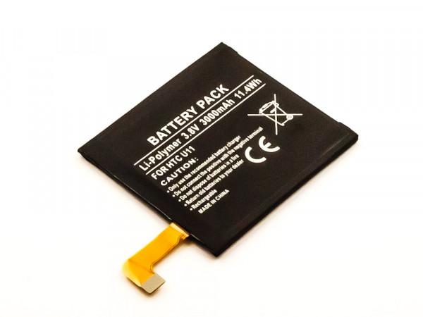 Akku für HTC U11 ersetzt B2PZC100, 35H00271-00M