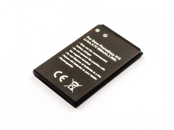 Akku für DORO PHONEEASY 715GSM, 715, 516, 515, 510, 508, 506, 500 wie DBC-800B, DBC-800A, F100