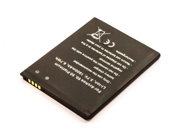 Akku für ARCHOS 50, 50 Helium, 50 Platinum, 50b Helium ersetzt AC50PL