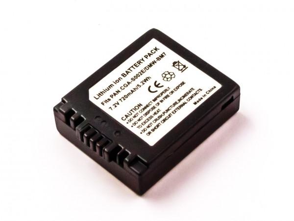 Akku für PANASONIC ersetzt CGA-S002A, CGR-S002, CGA-S002E/1B, CGA-S002E, DMW-BM7, CGR-S002E