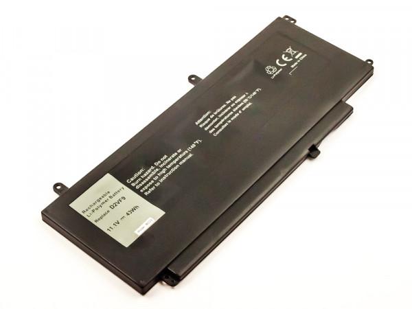 Akku für Dell ersetzt 0PXR51, 0YGR2V, D2VF9, PXR51 Li-Polymer, 11,1V, 3870mAh, 43Wh