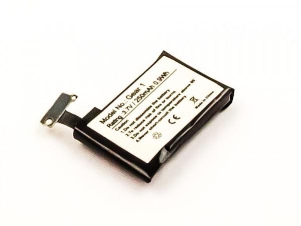 Akku für SAMSUNG GEAR 1, SM-V700 ersetzt B030FE, SP48223, GH43-03992A