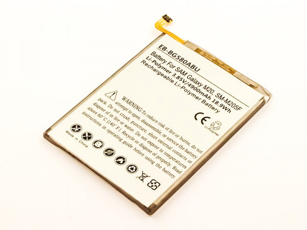 Akku für Samsung Galaxy M20, M20 ersetzt EB-BG580ABU, GH82-18701A