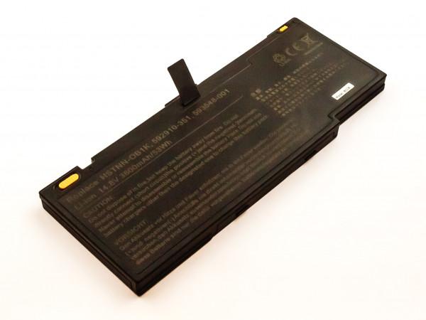 Akku für HP ersetzt 592910-351, RM08, LF246AA, HSTNN-OB1K, 593548-001