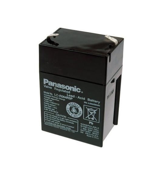 PANASONIC Blei-Akku LC-R064R5P Pb 6V / 4,5Ah, Faston 4,8 +/-