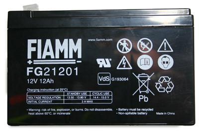 Fiamm Blei-Akku FG21201 Pb 12V / 12Ah VdS-Nr. G116015, Faston 4,8