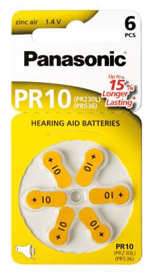 PANASONIC Hörgerätebatterie PR-10L/6LB