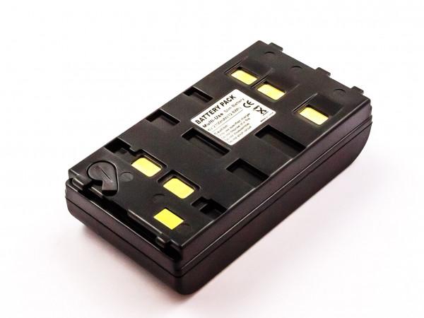 Wendeakku universal für Camcorder, NiMH, 6,0V, 2100mAh, 12,6Wh