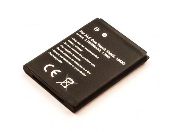 Akku für ALCATEL OT 1042D, OT 1040X ersetzt CAB0400000C1
