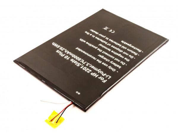 Akku für HP 2201, SLATE 10 PLUS ersetzt PR-3159167, 781101-001