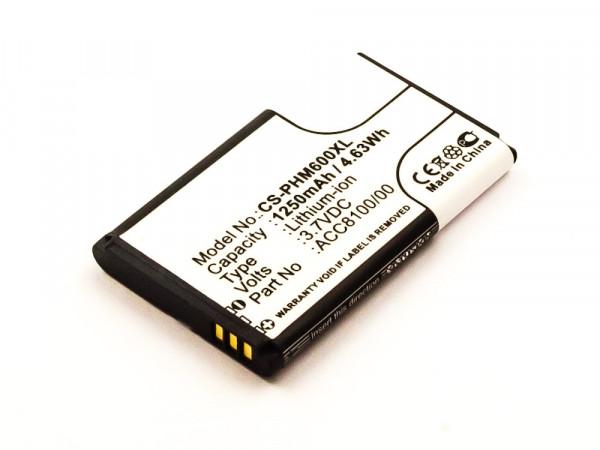 Akku für Philips DPM6000, DPM7000, DPM8100, DPM8500, DPM8000 ersetzt 8403 810 00011, ACC8100