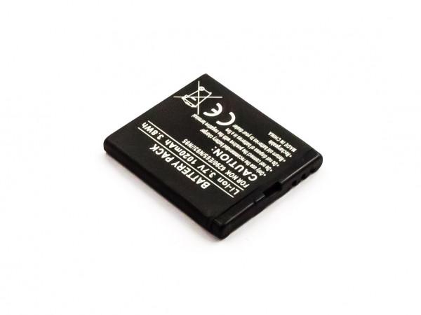 Akku für BEA-FON S30, S31 NOKIA N96, N95, N93I, N79, N78, E65, 6290 ersetzt BL-6F, BL-5F