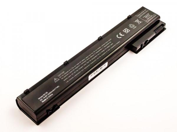 Akku für HP EliteBook 8560w, 8570w 8760w, 8770w 14,8V, 5200mAh, 77,0Wh