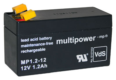 Multipower Blei-Akku MP1,2-12 Pb 12V / 1,2Ah