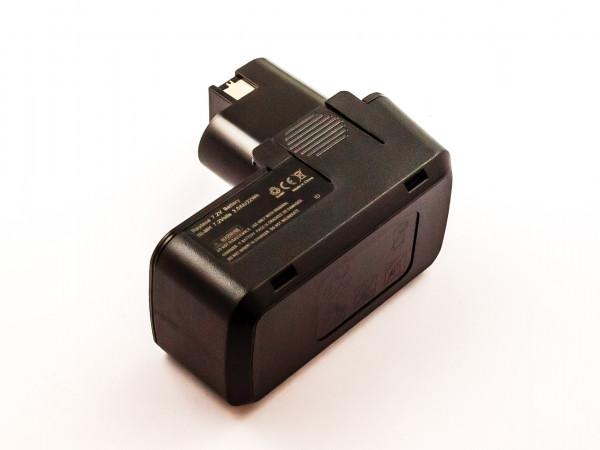 Akku für BOSCH GBM 7,2, GDR50, NiMH, 7,2V, 3000mAh, 21,6Wh, black