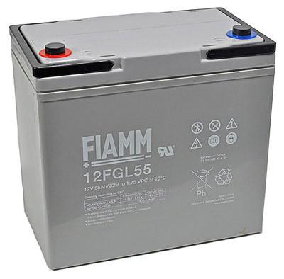 Fiamm Blei-Akku 12FGL55 Pb 12V / 55Ah 10-Jahresbatterie, M6
