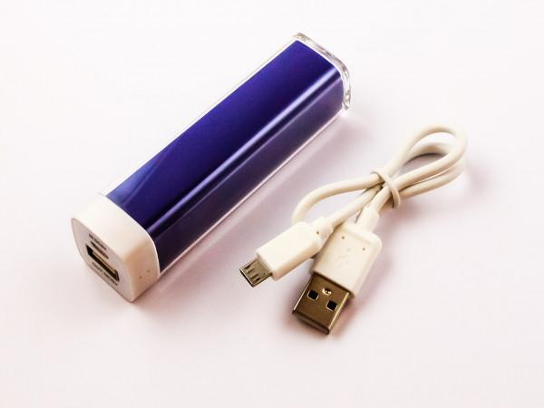 Powerbank, Li-ion, 2200mAh, 8,2Wh, Blau