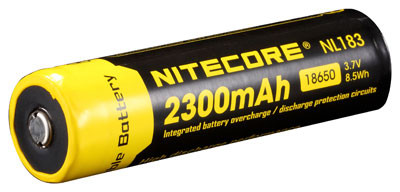 Nitecore Li-Ion Akku Typ 18650 NL1823 2300 mAh mit PCB/IC-Protection