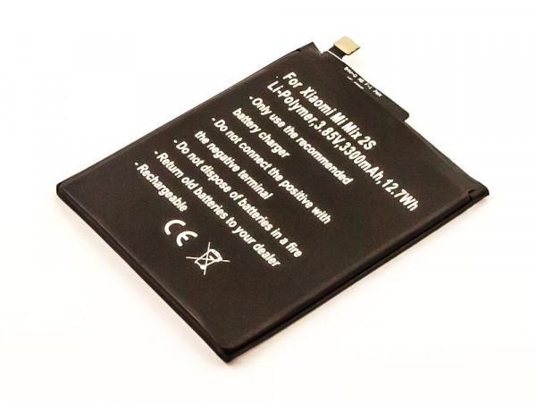 Akku für Xiaomi Mi Mix 2S, Li-Polymer, 3,85V, 3300mAh ersetzt BM3B