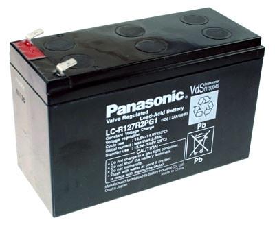 Panasonic Blei-Akku LC-R127R2PG1 Pb 12V / 7,2Ah VdS, Faston 6,3
