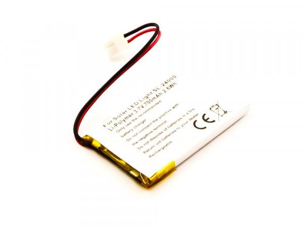 Akku für Solar LED Light SL-24000 ersetzt 24-800-002