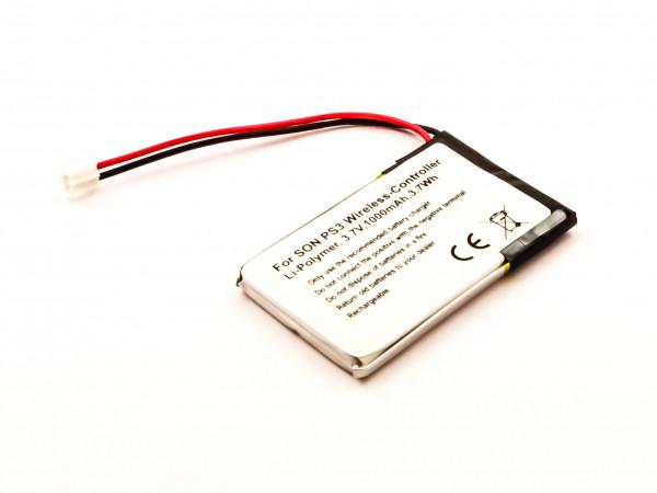 Akku für SONY PS3 Wireless-Controller, Li-Polymer, 3,7V, 1000mAh, 3,7Wh