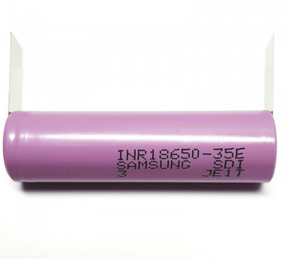 Samsung INR18650-35E / 3,7 V / 3500mAh / LiNiCoAlO2 3C / 10,5A Lötfahne U