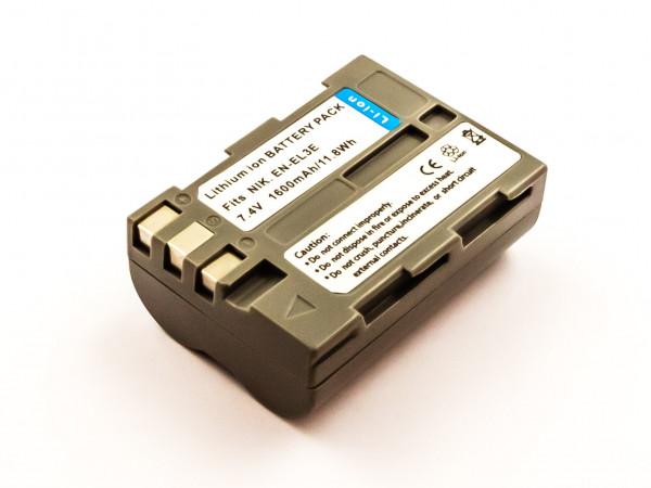 Akku für NIKON D70, D70S, D70S, D80, D80, D90, D90, DSLR D700, D70, D50, D50, D100 ersetzt EN-EL3E