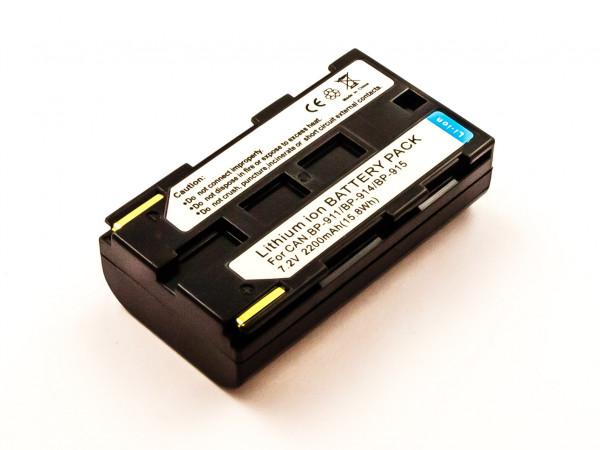 Akku für CANON ersetzt BP-911, BP-925, BP-915, BP-914, BP-911K