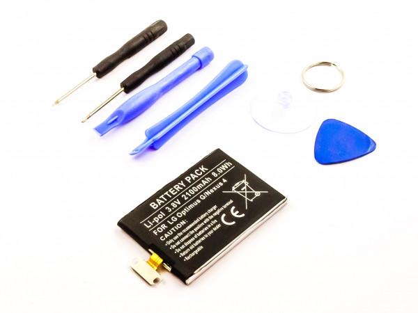 Akku für LG OPTIMUS G, GOOGLE NEXUS 4, F180, E973, E971, E970, E960 ersetzt BL-T5