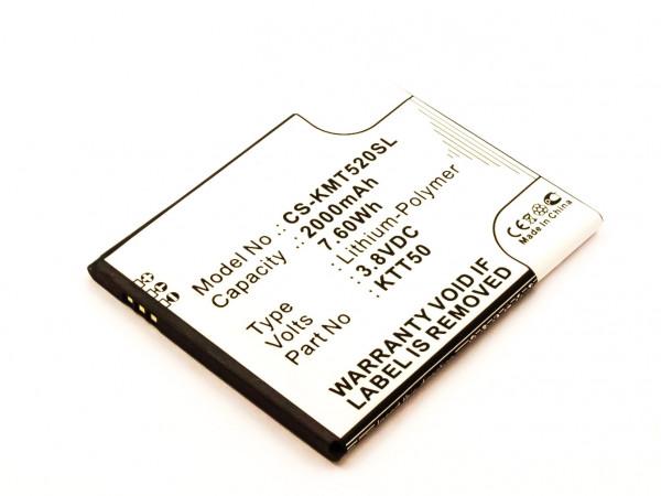 Akku für KAZAM TORNADO 2, 2 5.0 ersetzt KTT50, KTT50-GHABD002643