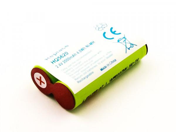 NiMH-Akku - 2000mAh (2.4V) - für Rasierer, Haarschneider wie 138 10609, 2HHR120