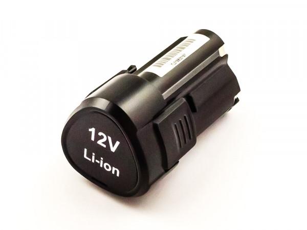Akku für Worx ersetzt WA3505, WA3509 Li-ion, 12V, 2000mAh, 24,0Wh, black