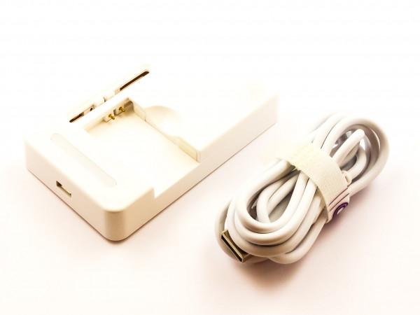 Universal USB-Ladegerät mit 2 verschiebbaren Ladekontakten 500mA