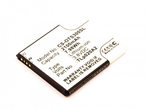 Akku für Alcatel 5065W-2DALUS2, One Touch POP S3 ersetzt TLi020A1, TLp020A2