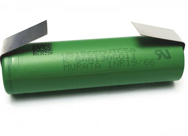 MURATA SONY Konion US18650 VTC5A max.35A mit Lötfahne U